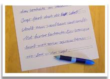 Lernschwierigkeiten Rechtschreibung